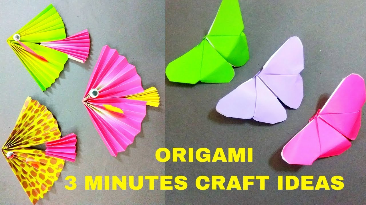Paper Craft Ideas Origami Butterfly Origami Fish Diy 3