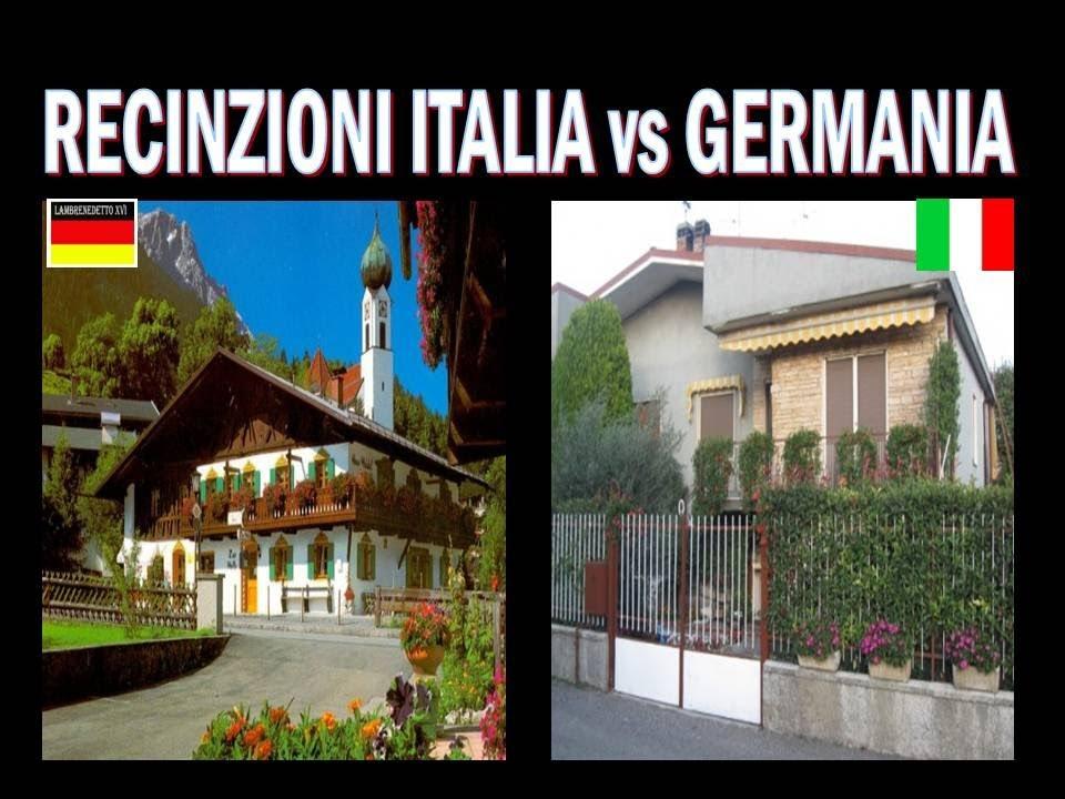Recinzioni case italia vs germania guarda e medita youtube for Modelli di case italiane