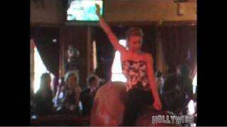 90210's AnnaLynne McCord Bull Riding Like a Pro at Saddle Ranch