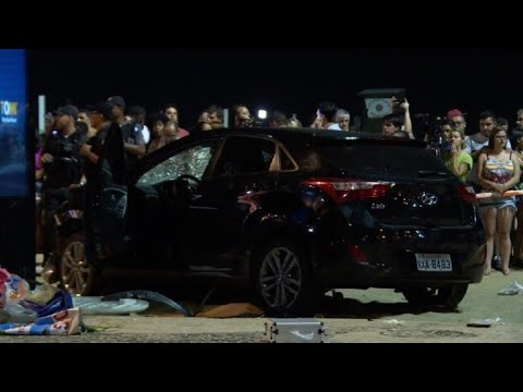 Car hits crowd at Brazil