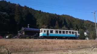 【予土線車両動画】西ヶ方駅に到着して窪川方面へ出発するキハ