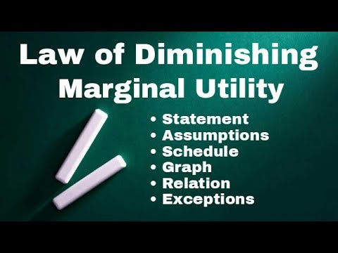 Law Of Diminishing Marginal Utility | in Hindi