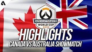 Canada vs Australia | Overwatch World Cup 2018 Team Australia Outback Showdown