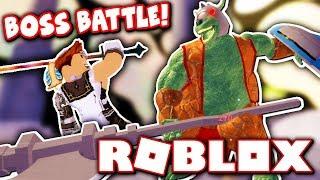 DEFEATING THE FIRST FLOOR BOSS?! (Roblox Swordburst 2)