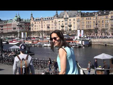 Sweden, Stockholm, walking from RIddargatan to Junibacken