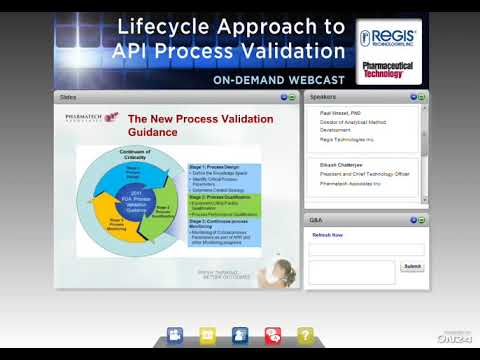 Lifecycle Approach to API Process Validation