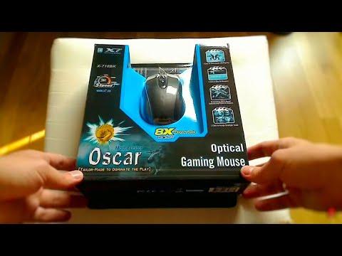 A4TECH X7 - X-710BK gaming mouse - unboxing + recenzja (review PL) myszki i podkładki z serii X7