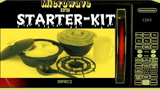 IFB microwave oven starter kit unboxing and Use