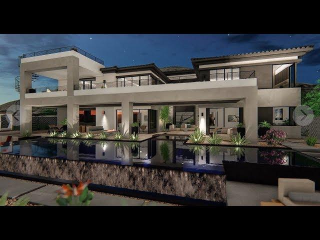 Strip View Home For Sale Las Vegas   $3.5M   6,923 Sqft   3 Beds    5 Baths   Pool   Media Room