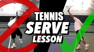 Tennis SERVE Lesson: Technique Tips for Beginners AND Advanced Players
