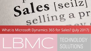 Introduction to Microsoft Dynamics 365 for Sales (July 2017) thumbnail