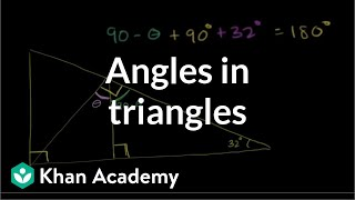 Triangle angle example 3 | Angles and intersecting lines | Geometry | Khan Academy