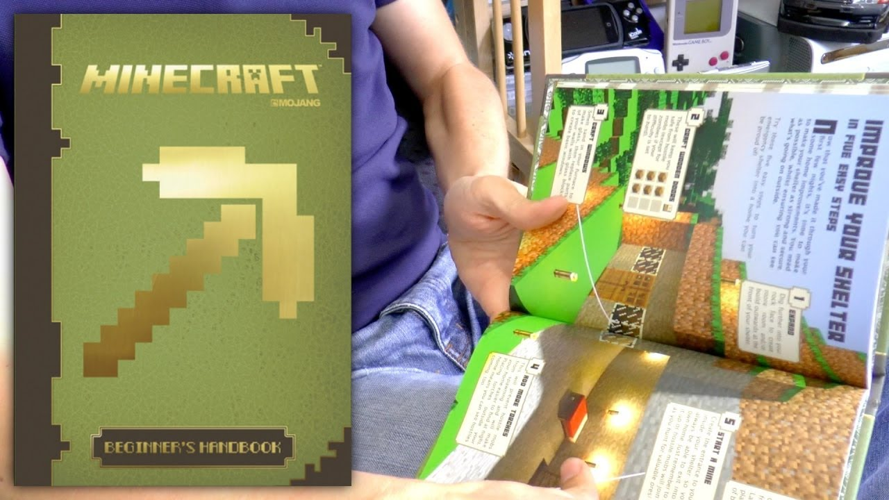 minecraft beginners handbook guide book review youtube