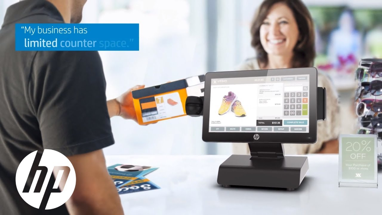 Hp Rp2 Retail System Pos Solutions Hp Youtube