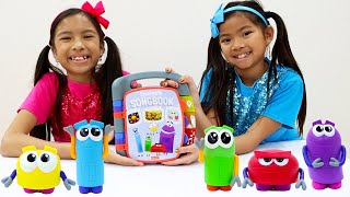 Emma and Wendy Pretend Play Learning Shapes Body Parts and More with StoryBots Toys for Kids