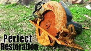 Rusty Bosch Circular SAW - Perfect Restoration