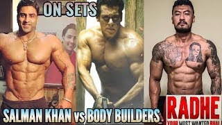RADHE: YOUR MOST WANTED BHAI | ON SETS | MEHBOOB STUDIO | SALMAN KHAN vs BIGGEST BODY BUILDERS FIGHT
