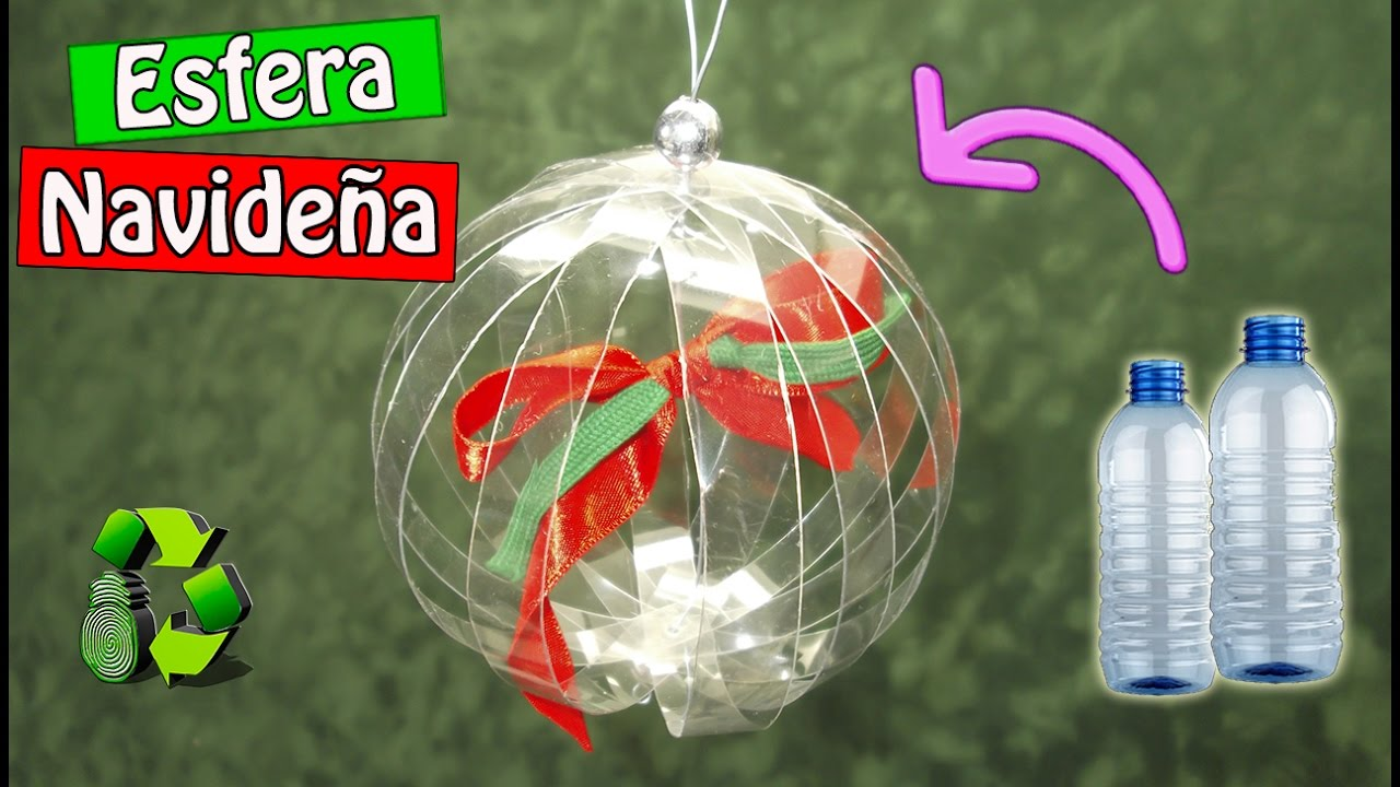 DIY Esfera con botellas de plstico Reciclaje Ecobrisa YouTube