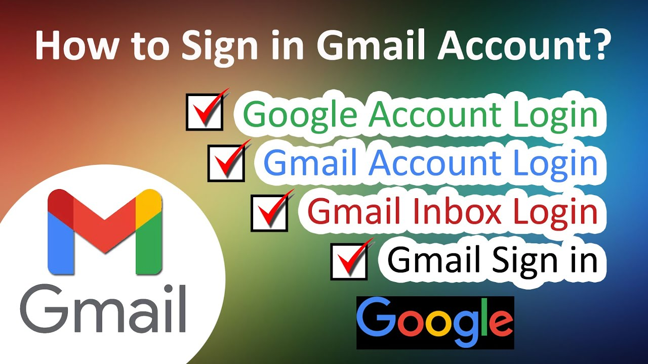How to Sign in Gmail/Google Account Gmail Sign in   Google Login   Google  Sign in   ADINAF