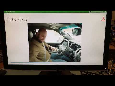 Real time Distracted Driving demo running on NXP's i.MX8