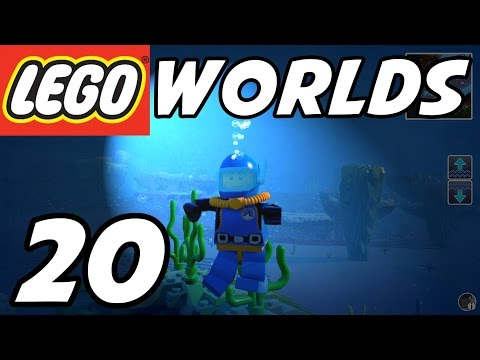 LEGO Worlds - E20 - Underwater Exploration! SCUBA Diving! (Gameplay Playthrough 1080p60)