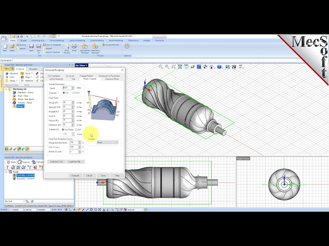 VisualCAD/CAM 2021: 4 Axis Introduction
