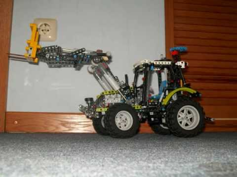 lego technik traktor mit frontlader youtube. Black Bedroom Furniture Sets. Home Design Ideas