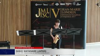 Londeix 2017 – Shiho Watanabe (Japan) – XXV Metamorfosi by Sigfrid Karg Elert