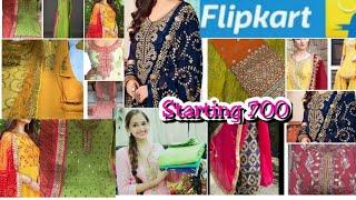 Flipkart Amazon Bandhej silk dress with heavy dupatta | banarasi partywear dress with heavy border