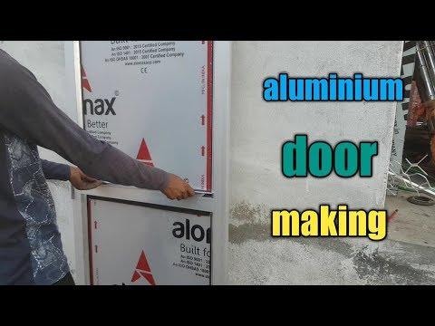 Making Aluminium Door || How To Make Aluminium Bathroom Door