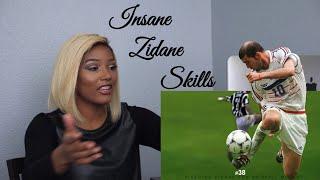 Clueless new American football fan reacts to Zinedine Zidane Top 50 Football Skills Ever,
