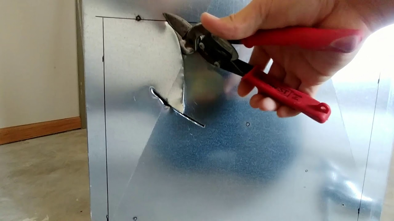 How To Cut A Hole In Sheet Metal Or Duct Work Using Basic