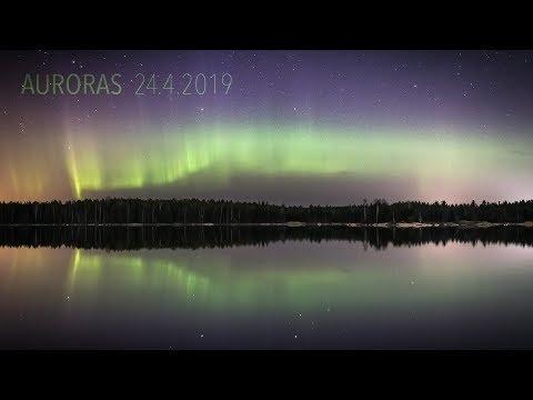 Auroras 24.4.2019 (4K TIMELAPSE)