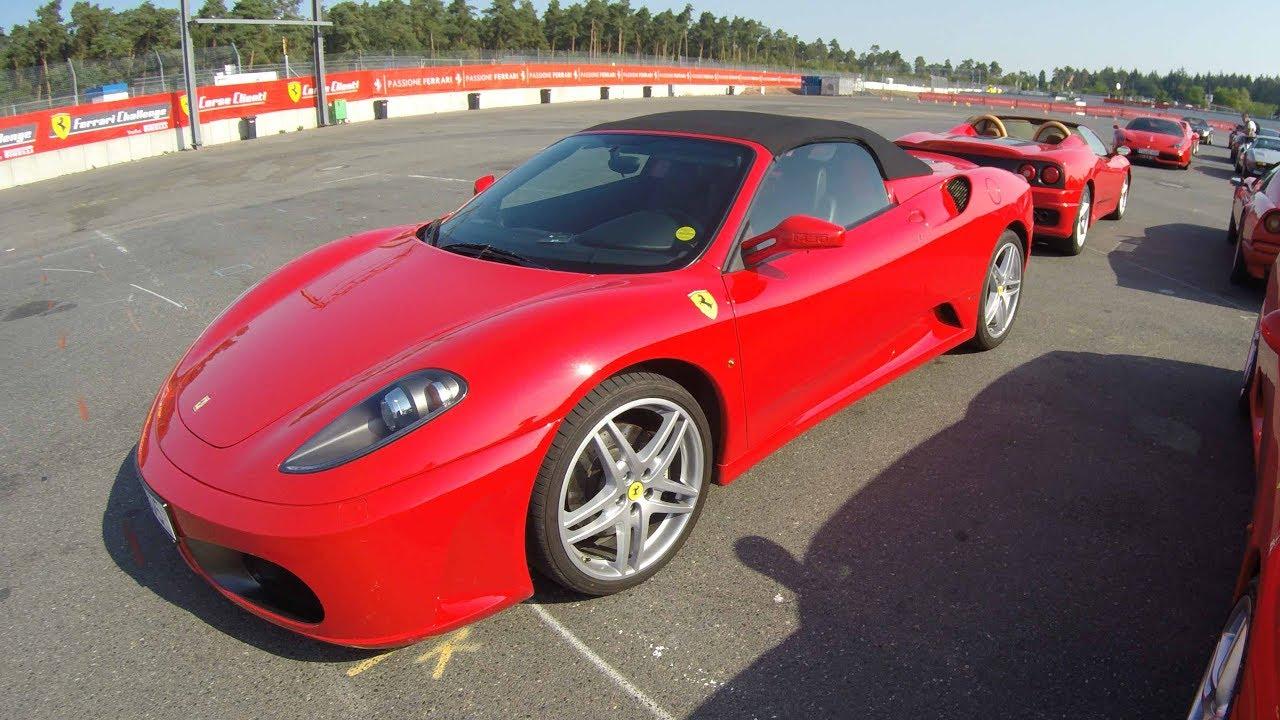 Ferrari F 430 Compilation 2 Gold And Red Colour Walkaround Interior Sound Youtube