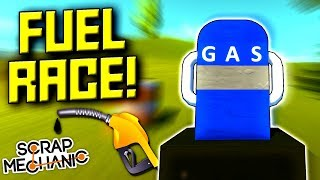 Racing with LIMITED Fuel! - Scrap Mechanic Multiplayer Monday! Ep 112