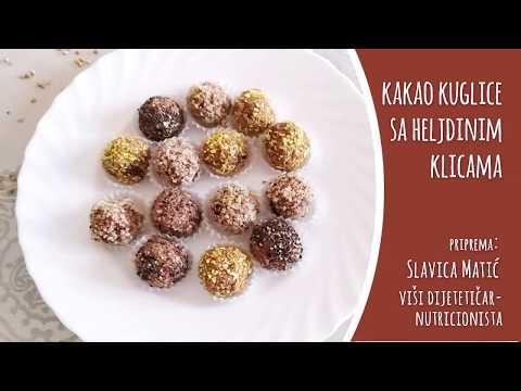 Kakao kuglice sa heljdinim klicama