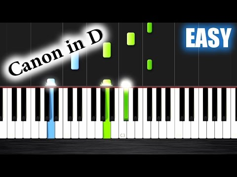Canon in D  EASY Piano Tutorial  Nicholas Steinbach