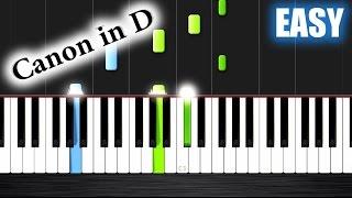 Canon in D - EASY Piano Tutorial - Nicholas Steinbach