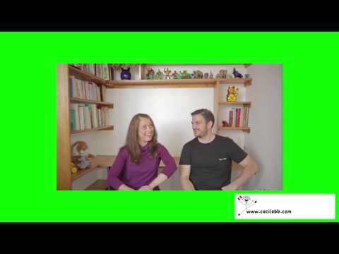 French English Cognates - Cecile tries to teach Yann, her insolent little brother,  French