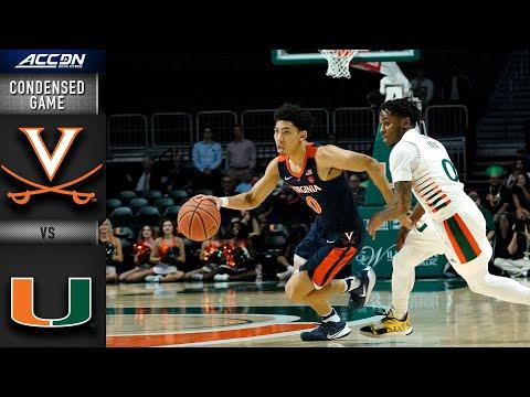 Virginia vs. Miami Condensed Game   2019-20 ACC Men's Basketball  