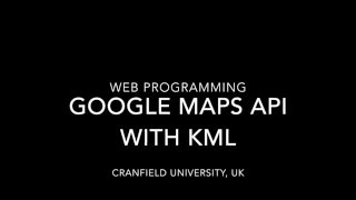 Google Maps API with KML Free HD Video