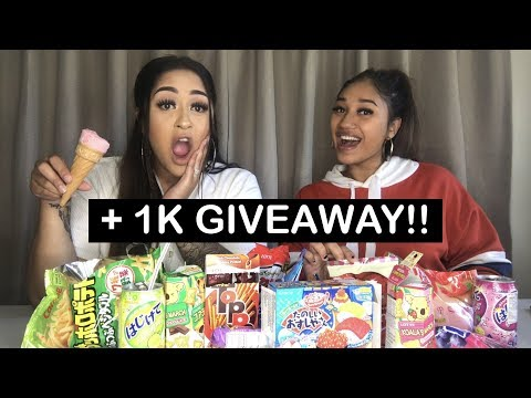 1K GIVEAWAY!!! | NEW ZEALANDERS TRY JAPANESE SNACKS