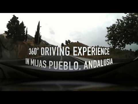 Virtual 360 Driving Tour in Mijas Pueblo in Andalusia, Spain