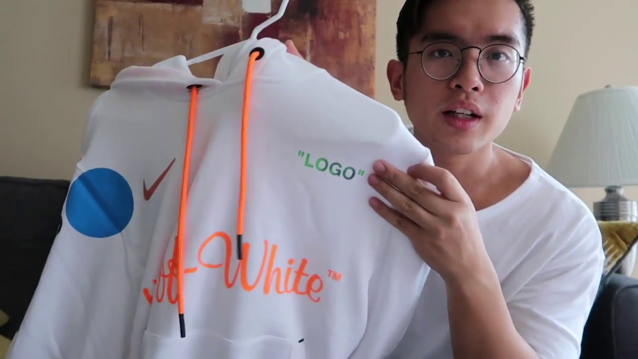 hacerte molestar Medición En la mayoría de los casos  Off White x Nike Mercurial White Hoodie Review and Sizing!! - YouTube