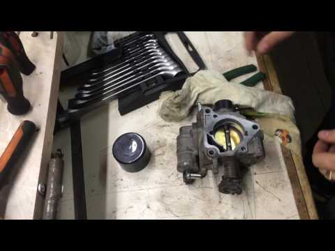 Чистка дроссельной заслонки на Mazda 3. Molykote D-321R.