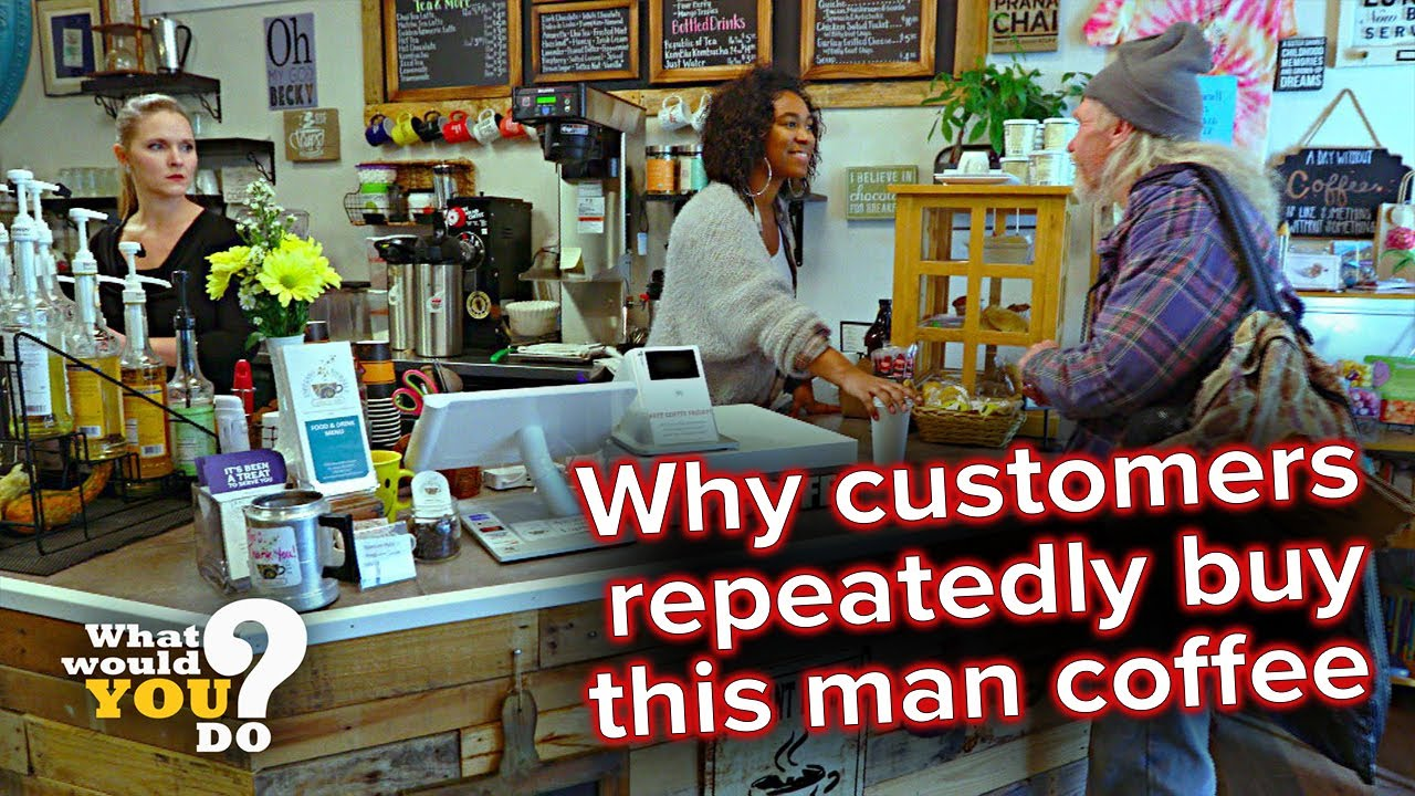 Generous customers repeatedly buy homeless man's coffee | WWYD