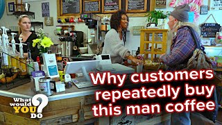 Generous customers repeatedly buy homeless man's coffee | WWYD