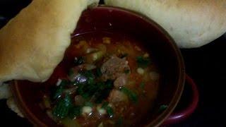 Тушеная Баранина с овощами под хлебной крышкой!!!
