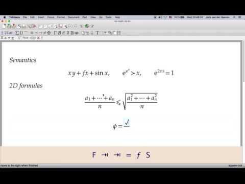 Typing basic mathematical formulas with GNU TeXmacs