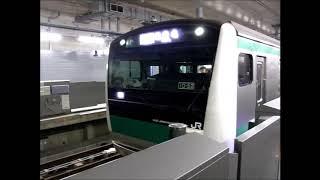 相鉄新横浜線 E233系7000番台 各駅停車海老名行き 羽沢横浜国大駅発車